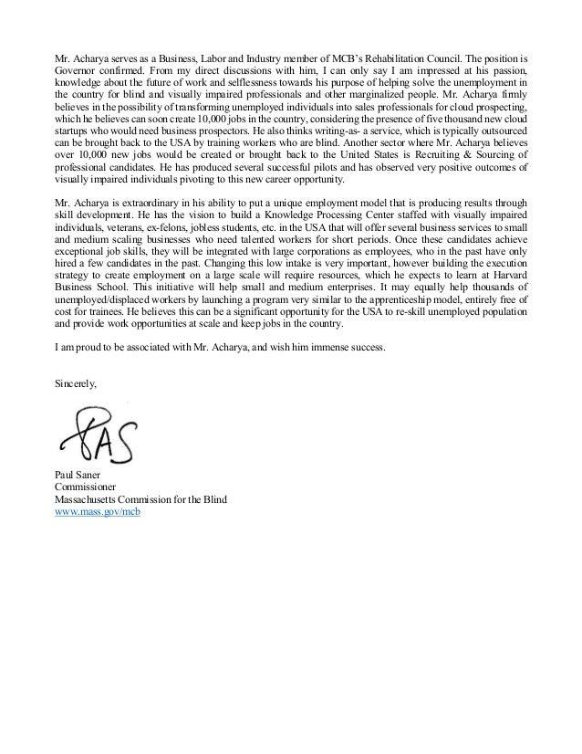 Govt of Massachusetts : PAUL SANER : Subhashish Acharya Slide 2