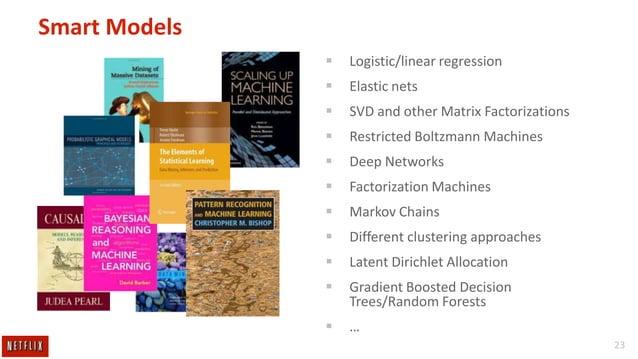 Smart Models   Logistic/linear regression    Elastic nets    SVD and other Matrix Factorizations    Restricted Boltzma...