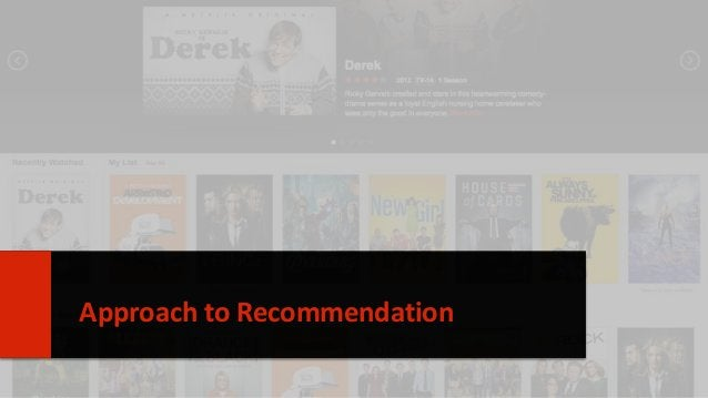 Approach to Recommendation 6