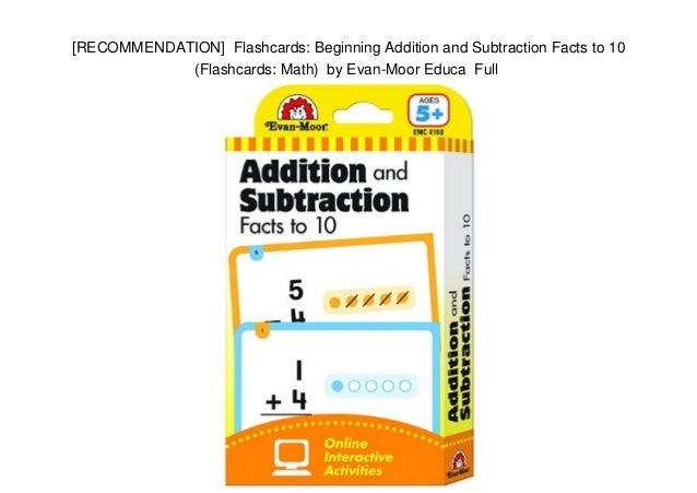 RECOMMENDATION Flashcards Beginning Addition and Subtraction Fact