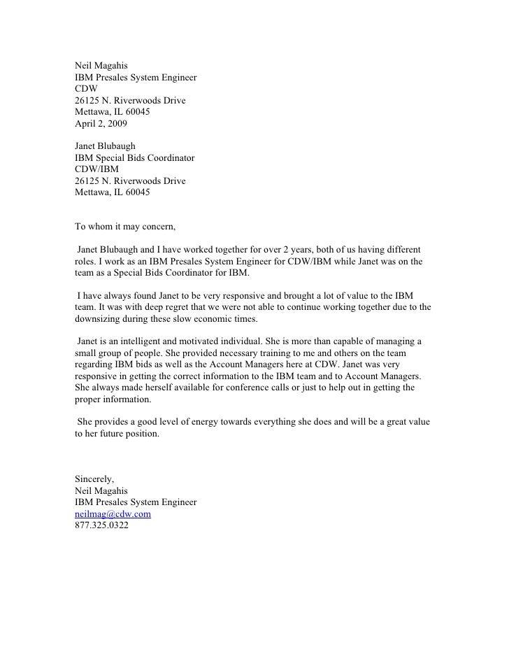 Recommendation Letter Janet Blubaugh Ibm 1 3