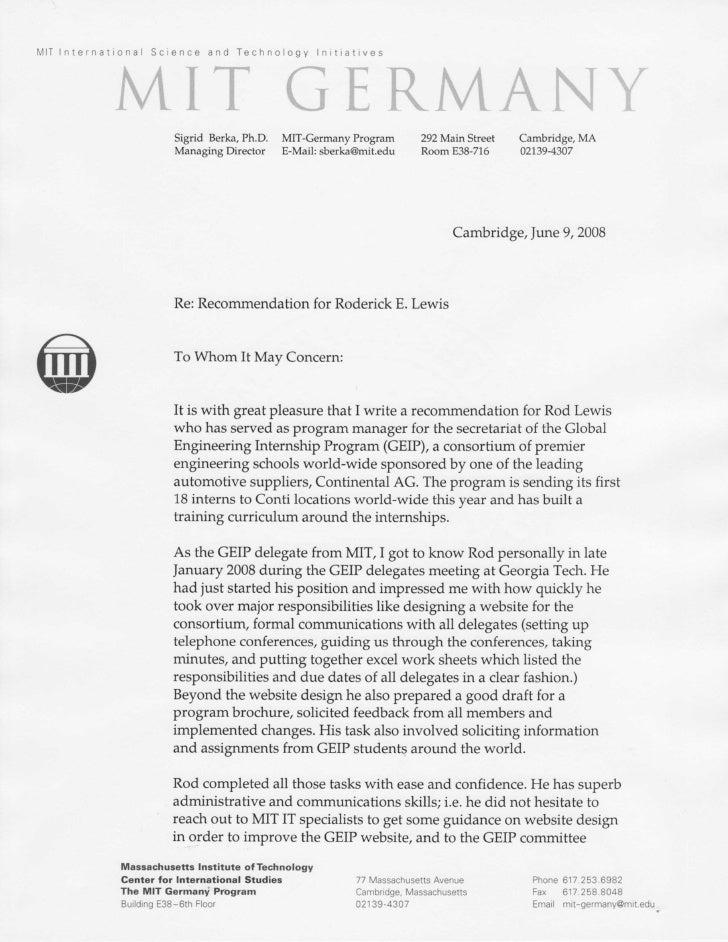 Letter Mit