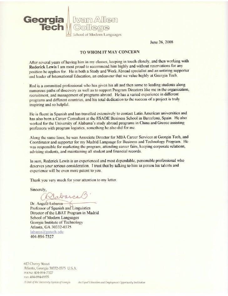 recommendation letter spain lbat