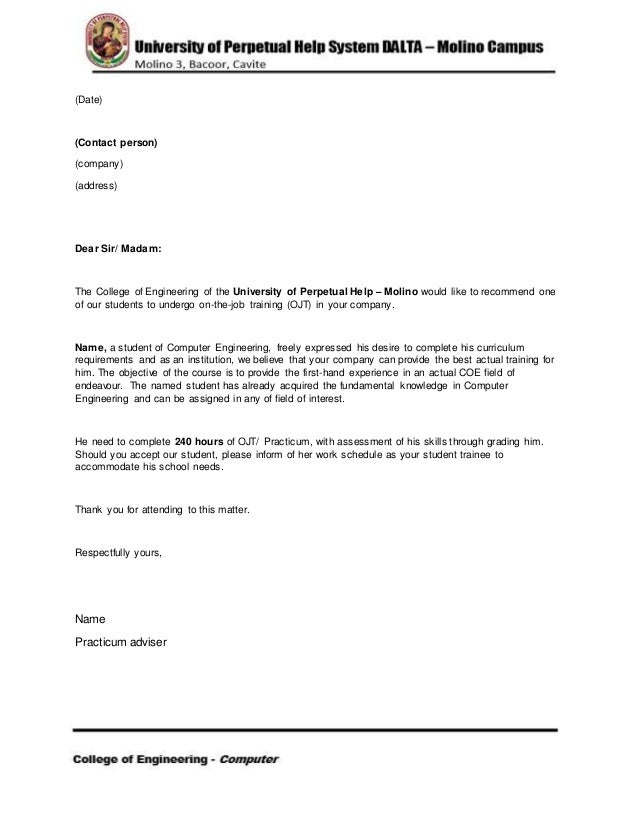 Recommendation letter uphsd for University of manchester powerpoint template