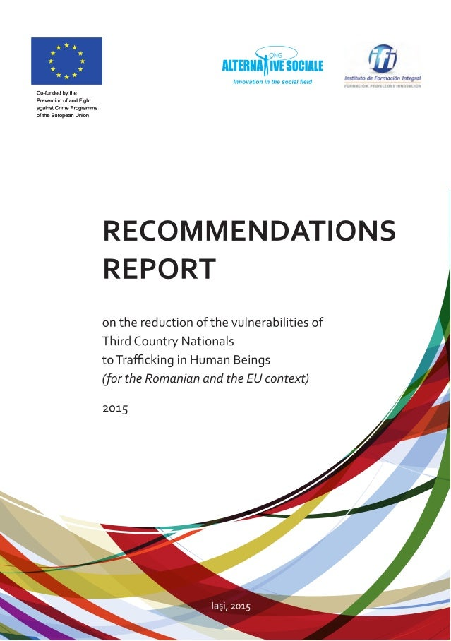 RECOMMENDATIONS REPORT on the reduction of the vulnerabilities of Third Country Nationals to Trafficking in Human Beings (...