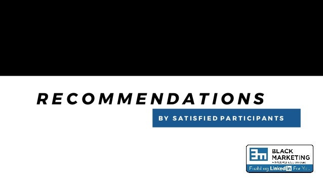 Recommendations 5 July