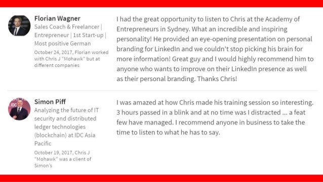 """""""Nadhirah Fahtulrazi Client Services & Strategy Chris is an extremely engaging and educational speaker. Truly inspiring to..."""