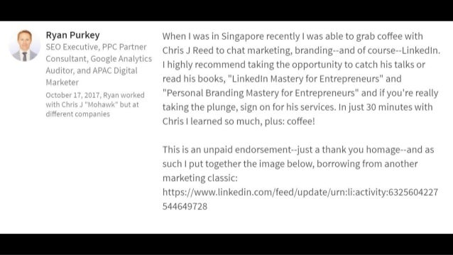 """Victor Mills Chief Executive at Singapore International Chamber of Commerce (SICC) """" Chris gave a really great, energetic ..."""