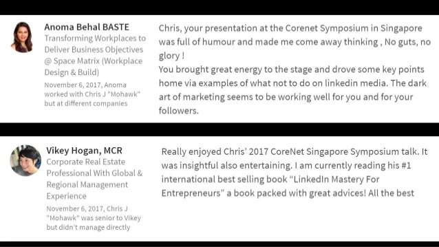 """""""Chris is a dynamic speaker, a LinkedIn authority and charismatic leader. Engage him, consult him for personal and corpora..."""