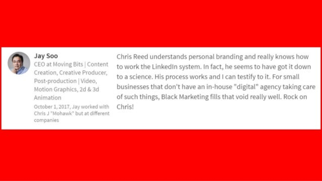 Chris is obviously very experienced with all things LinkedIn. He provided many insightful and practical tips in how to use...