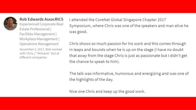 Great event, Fun and inspiring couple of hours attending Chris' workshop, Chris is a great presenter, very knowledgeable a...