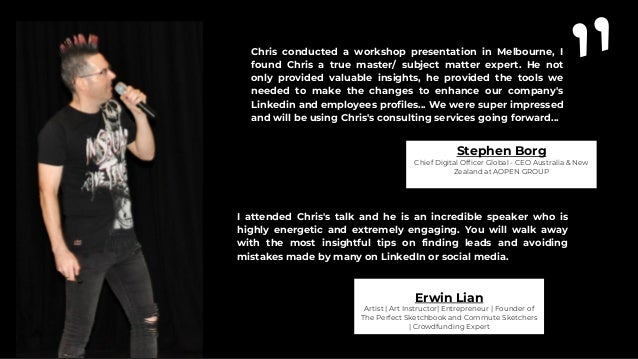 """"""" I was impressed by the outstanding presentation Chris gave at the EO conference in Shanghai. He addressed the subject wi..."""