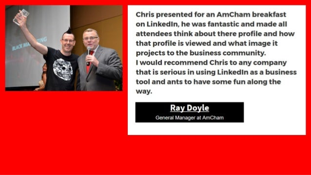 """"""" I have known Chris for a couple of years now, as he demonstrated recently when presenting on the top ten tips for Linked..."""