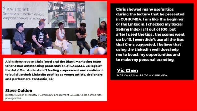 """"""" Chris spoke for an event for the NTUC Future Leaders Series, and his content was spot-on, highly applicable, his deliver..."""