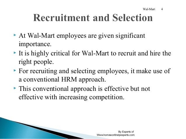 Critical analysis of recruitment and selection