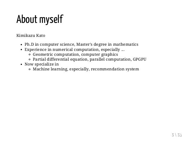 Recommendation System --Theory and Practice Slide 2