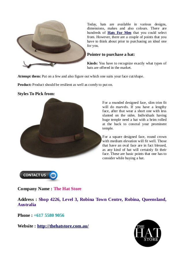 Recommendation to Buy Men's Hats That Make You Look Cool and Classy