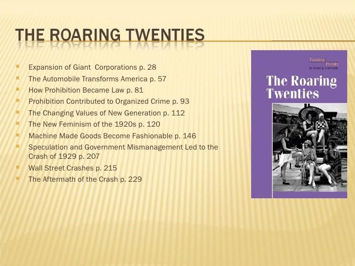 <ul><li>Expansion of Giant  Corporations p. 28 </li></ul><ul><li>The Automobile Transforms America p. 57 </li></ul><ul><li...