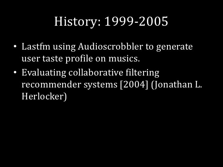 Recommender System Introduction
