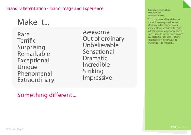 Brand Differentiation - Brand Image and Experience       Brand Differentiation –                                          ...