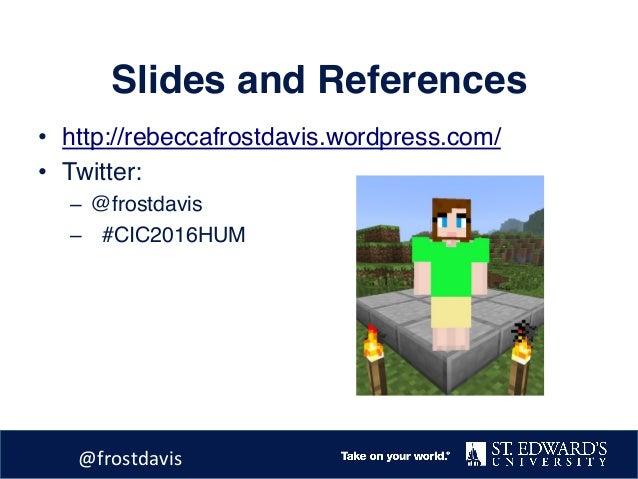 Reconciling online liberal arts Slide 2