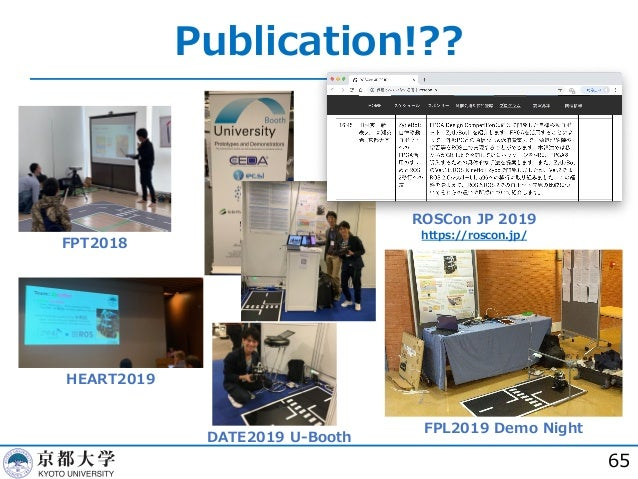Publication!?? 65 FPT2018 HEART2019 DATE2019 U-Booth FPL2019 Demo Night ROSCon JP 2019 https://roscon.jp/