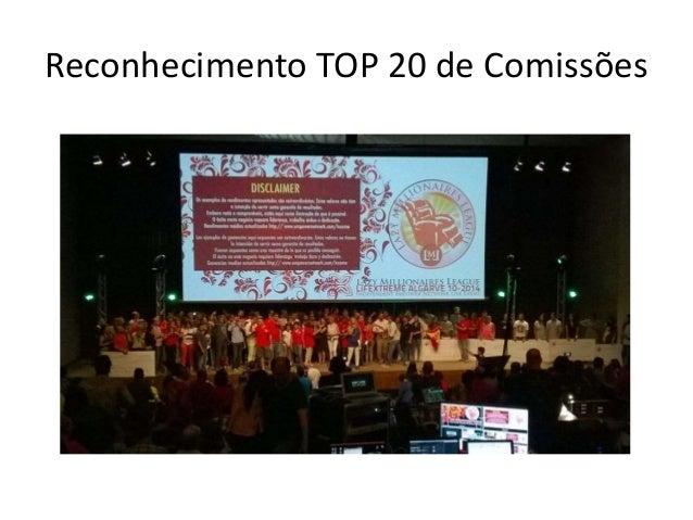 Reconhecimento TOP 20 de Comissões