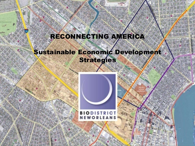 RECONNECTING AMERICASustainable Economic Development            Strategies