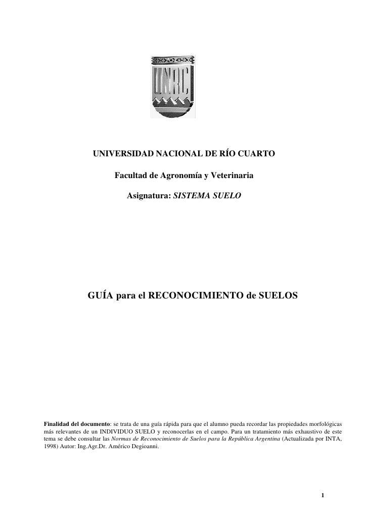 UNIVERSIDAD NACIONAL DE RÍO CUARTO                             Facultad de Agronomía y Veterinaria                        ...