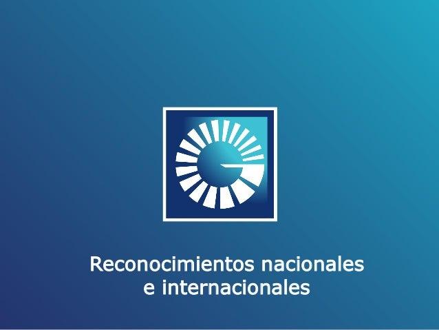 Reconocimientos nacionales e internacionales