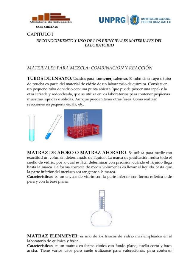 Reconocimiento y uso de materiales