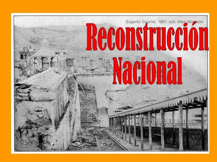 Reconstrucción  Nacional