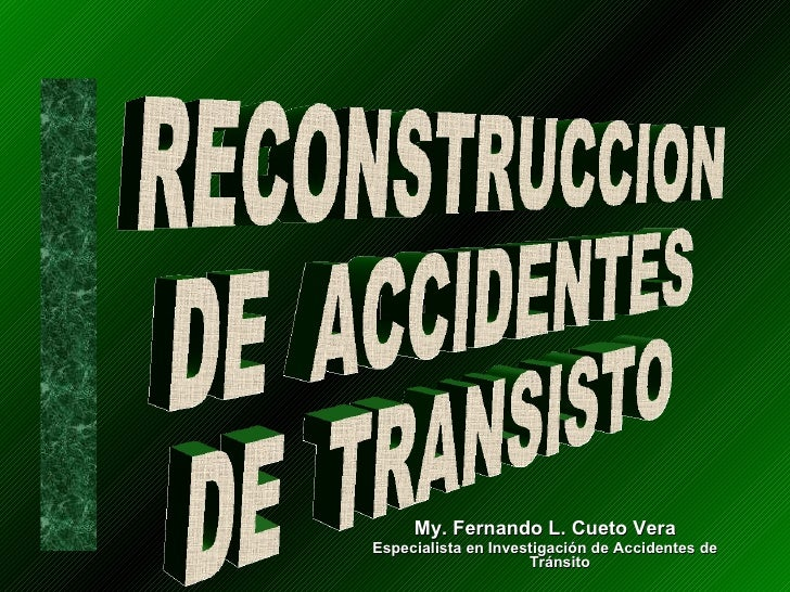 Reconstruccion accidentes de transito