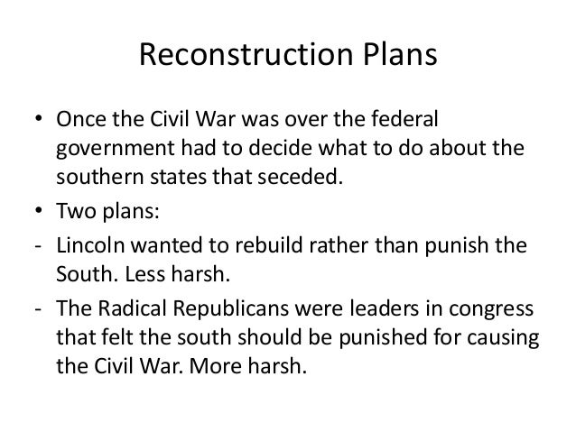 Reconstruction Power Point