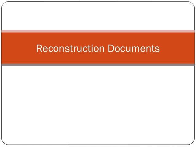 Reconstruction Documents