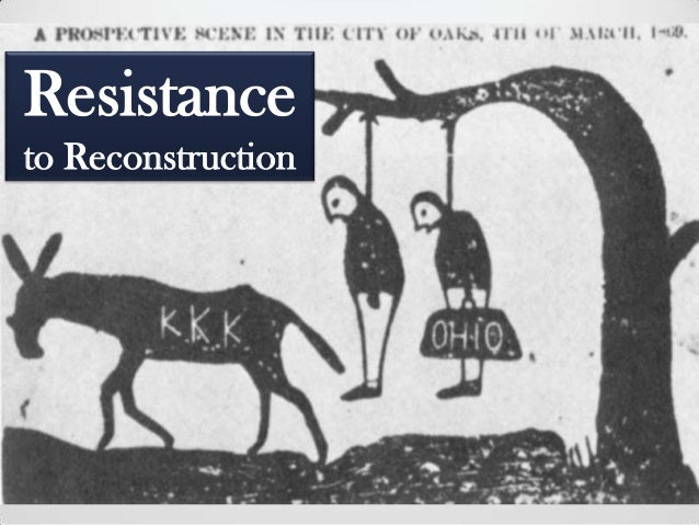 violence in reconstruction After the civil war, the federal government began a process of reconstruction the federal government descipte southern critics, persued a soft peace southern soldeiers were allowed to simply return home after afirming loyalty.
