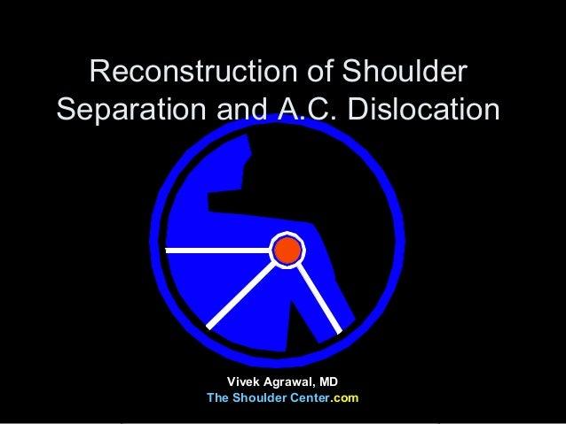 Reconstruction of ShoulderSeparation and A.C. DislocationVivek Agrawal, MDThe Shoulder Center.com