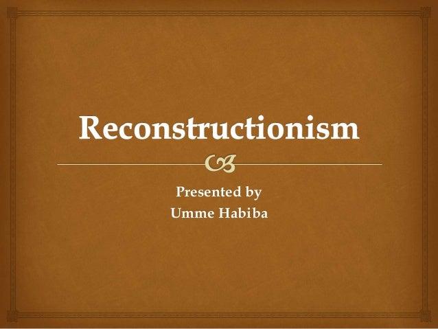 Reconstuctionism