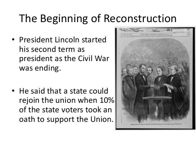 Could post civil war reconstruction considered second amer