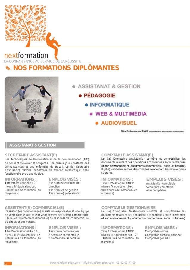9www.nextformation.com - info@nextformation.com - 01 42 03 77 00 ASSISTANT(E) DE DIRECTION (BILINGUE) Point d'ancrage d'un...