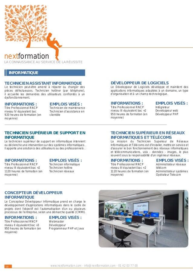 WEB & MULTIMÉDIA AUDIOVISUEL 11www.nextformation.com - info@nextformation.com - 01 42 03 77 00 EMPLOIS VISÉS : Monteur vid...