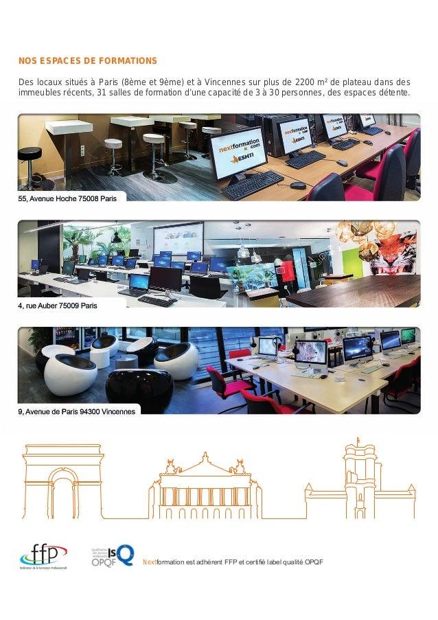 NextFormation - Catalogue 2015 des formations Reconversion et Evolution professionnelle