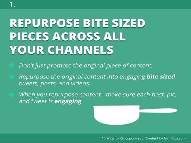 10 ways to Repurpose Content for more efficient Inbound Marketing Slide 2
