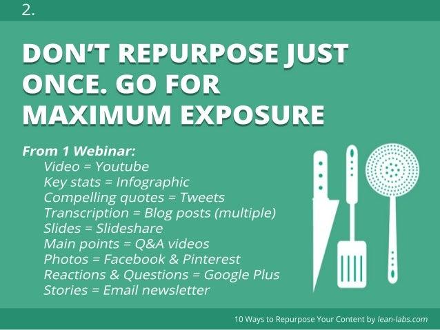 10 ways to Repurpose Content for more efficient Inbound Marketing Slide 3