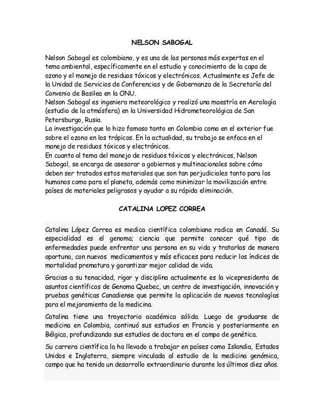Recopilacion De Cientificos Colombianos