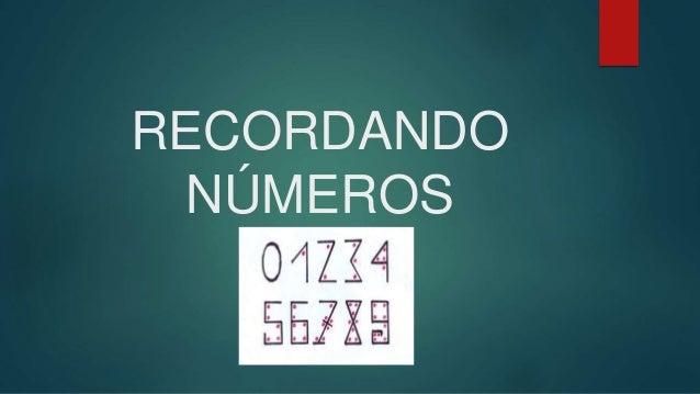 RECORDANDO NÚMEROS