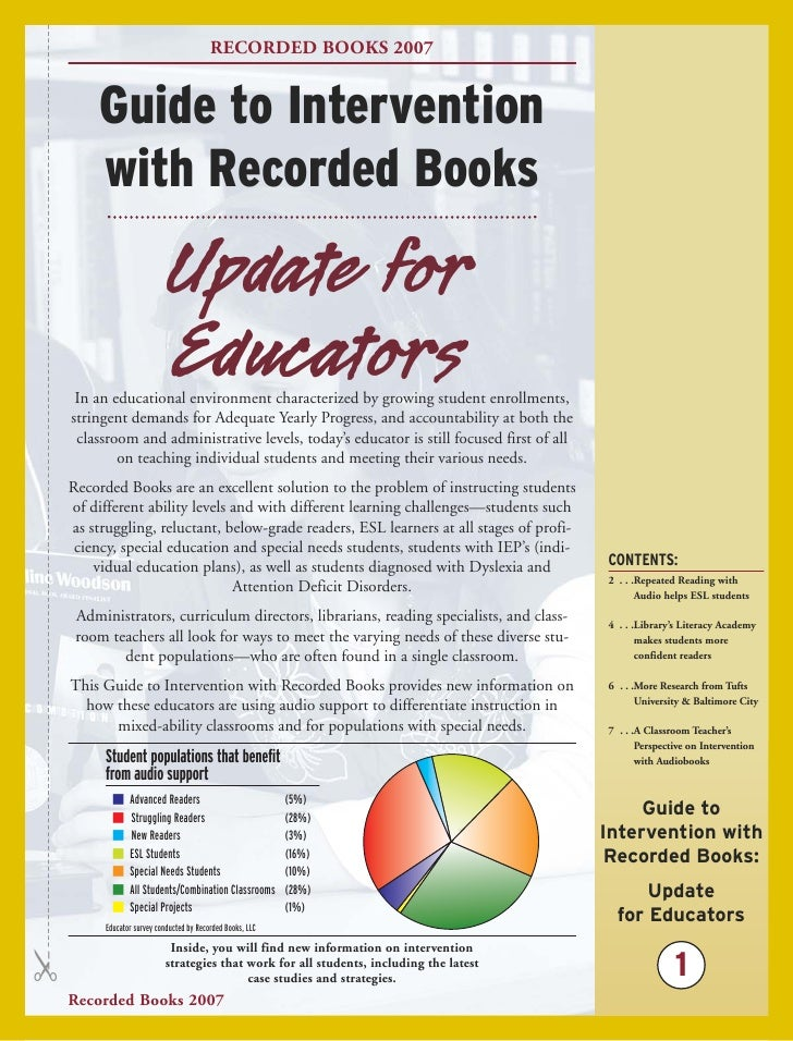 RECORDED BOOKS 2007          Guide to Intervention        with Recorded Books                             Update for      ...