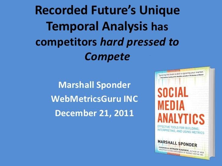 Recorded Future's Unique  Temporal Analysis hascompetitors hard pressed to        Compete   Marshall Sponder  WebMetricsGu...