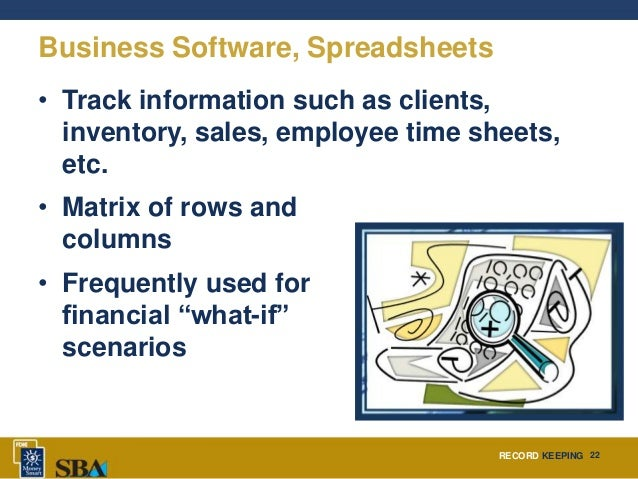 business record keeping software