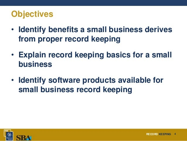 small business record keeping software